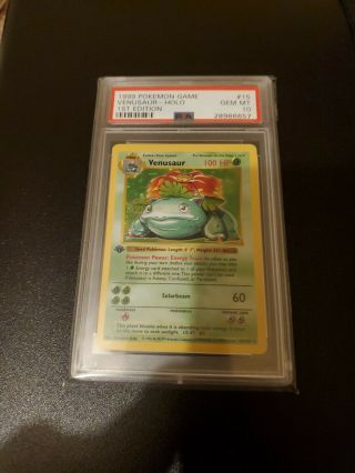 Pokemon 1st Edition Psa 10 Shadowless Base Holo Venusaur