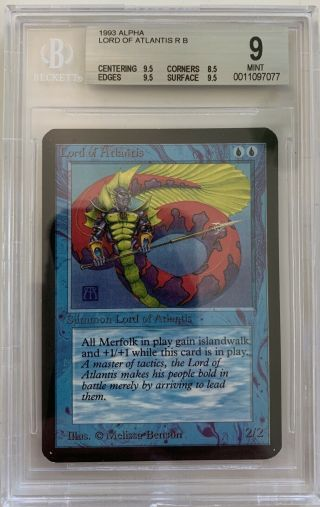 Mtg Lord Of Atlantis Alpha Magic The Gathering Bgs 9 (0.  5 Away)