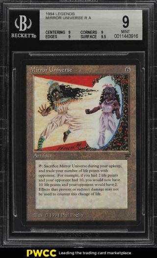 1994 Magic The Gathering Mtg Legends Mirror Universe R A Bgs 9 (pwcc)