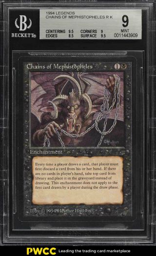 1994 Magic The Gathering Mtg Legends Chains Of Mephistopheles R K Bgs 9 (pwcc)