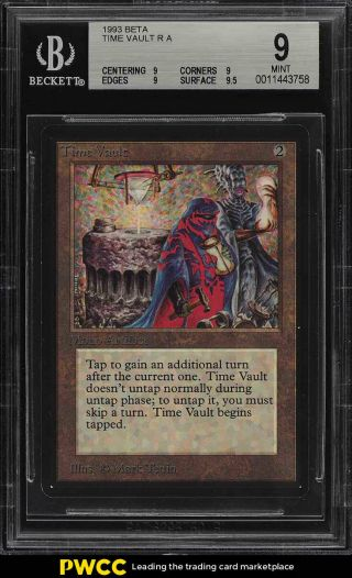 1993 Magic The Gathering Mtg Beta Time Vault R A Bgs 9 (pwcc)