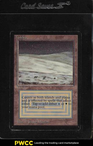 1993 Magic The Gathering Mtg Beta Dual Land Tundra R L (pwcc)