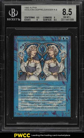 1993 Magic The Gathering Mtg Alpha Vesuvan Doppelganger R B Bgs 8.  5 (pwcc)