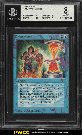 1993 Magic The Gathering Mtg Alpha Timetwister R B Bgs 8 Nm - Mt (pwcc)