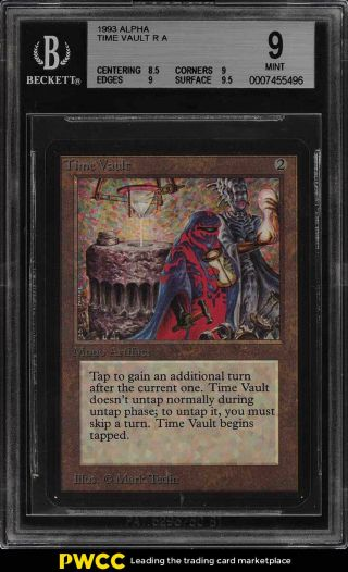 1993 Magic The Gathering Mtg Alpha Time Vault R A Bgs 9 (pwcc)