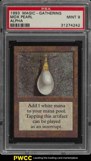 1993 Magic The Gathering Mtg Alpha Mox Pearl R A Psa 9 (pwcc)