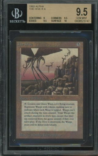 Bgs 9.  5 - Alpha - The Hive - Magic The Gathering Mtg 1993
