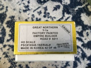 Precision Scale Crown Gn Y - 1a Factory Painted Empire Builder Rd 5011 Psc 16948 - 1