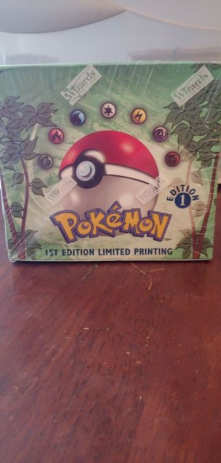 Pokemon Jungle 1st Edition Limited Printing Booster Box Factory Wotc