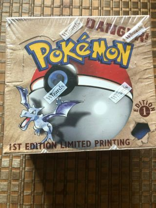 Pokemon Fossil 1st First Edition Factory Booster Box - English