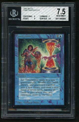 1x Bgs 7.  5 Beta Timetwister Mtg Beta Power 9 - Kid Icarus -