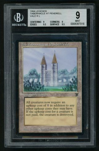 1x Bgs 9 The Tabernacle At Pendrell Vale (quad, ) Mtg Legends - Kid Icarus -