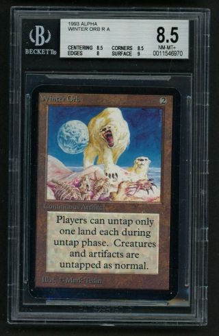 1x Bgs 8.  5 Alpha Winter Orb Mtg Alpha - Kid Icarus -