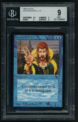 1x Bgs 9 Alpha Counterpsell Mtg Alpha - Kid Icarus -