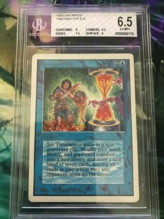 Mtg Unlimited Timetwister Bgs Beckett Graded 6.  5 Ex - Mt,