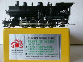 Sunset Models Ho Brass Southern Pacific C - 9 Sp 2 - 8 - 0 Oil Whale Back Tender