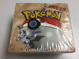 Factory Booster Box Pokemon Fossil Unlimited Edition