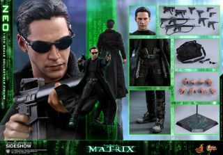 Hot Toys The Matrix Neo Mms466 Keanu Reeves Sixth Scale Figure - -