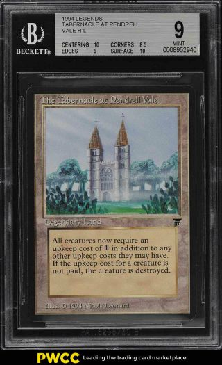 1994 Magic The Gathering Mtg Legends Tabernacle At Pendrell Vale R L Bgs 9 Pwcc