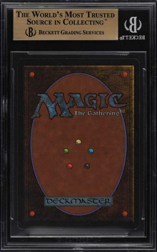 1993 Magic The Gathering MTG Unlimited Time Walk R B BGS 9.  5 GEM (PWCC) 2