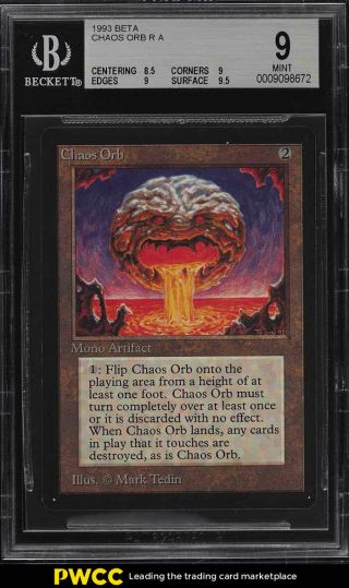 1993 Magic The Gathering Mtg Beta Chaos Orb R A Bgs 9 (pwcc)