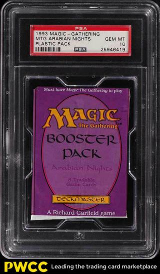 1993 Magic The Gathering Mtg Arabian Nights Plastic Pack Psa 10 Gem (pwcc)