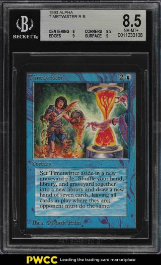 1993 Magic The Gathering Mtg Alpha Timetwister R B Bgs 8.  5 Nm - Mt,  (pwcc)