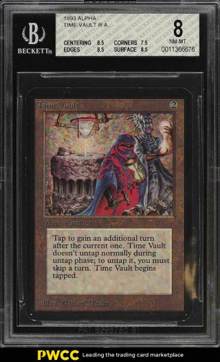 1993 Magic The Gathering Mtg Alpha Time Vault R A Bgs 8 Nm - Mt (pwcc)