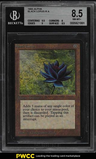 1993 Magic The Gathering Mtg Alpha Black Lotus R A Bgs 8.  5 Nm - Mt,  (pwcc)