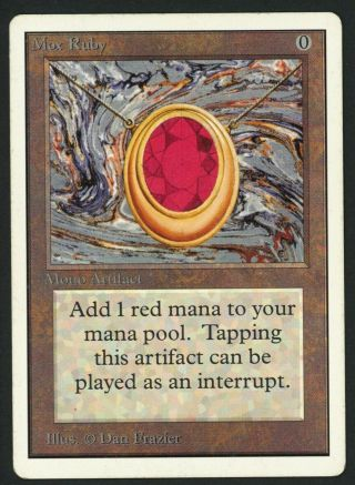 1x Unlimited Mox Ruby Mtg Unlimited Power 9 - Kid Icarus -