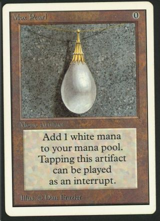 1x Unlimited Mox Pearl Mtg Unlimited Power 9 - Kid Icarus -