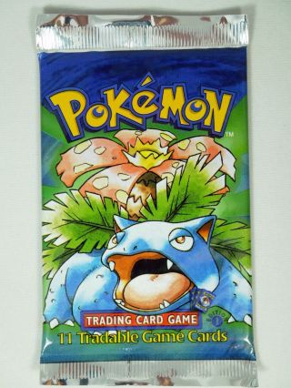 Pokemon 1st Edition Base Set Booster Pack Venusaur