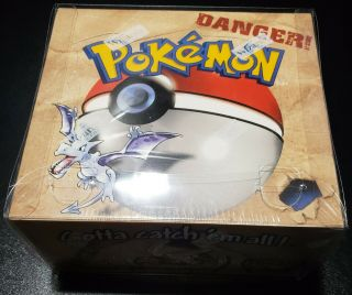 Pokemon Fossil Booster Box Unlimited Factory Enclosed W/ Custom Case