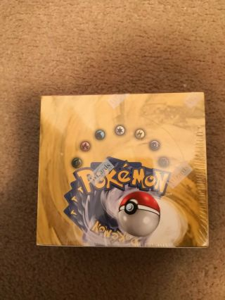 Pokemon Base Set Unlimited Booster Box (36 Packs) Factory 1999 Wotc