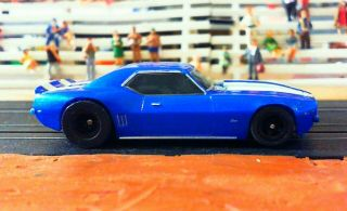 Aurora / Afx Chevrolet Camaro - Blue - Collector Series - Mega G,  - H O Slot Cars