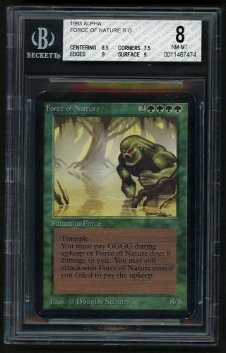 Bgs 8 Alpha Force Of Nature Mtg Alpha - Kid Icarus -