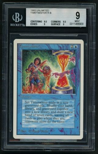 Bgs 9 Unlimited Timetwister (quad, ) Mtg Unlimited Power 9 - Kid Icarus -