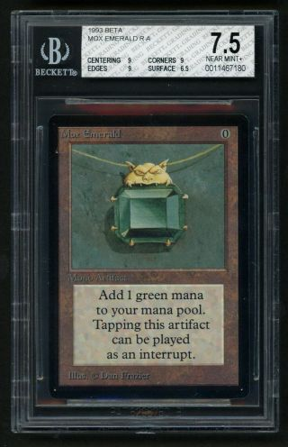 Bgs 7.  5 Beta Mox Emerald Mtg Beta Power 9 - Kid Icarus -