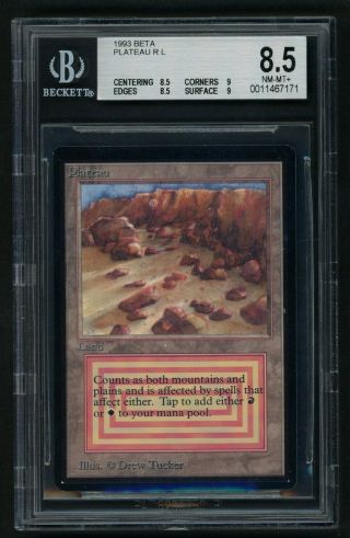 Bgs 8.  5 Beta Plateau (quad, ) Mtg Beta - Kid Icarus -