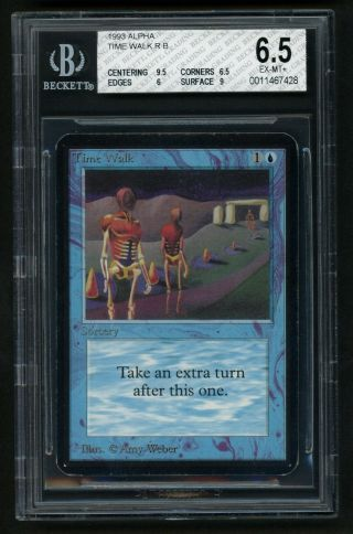 Bgs 6.  5 Alpha Time Walk Mtg Alpha Power 9 - Kid Icarus -