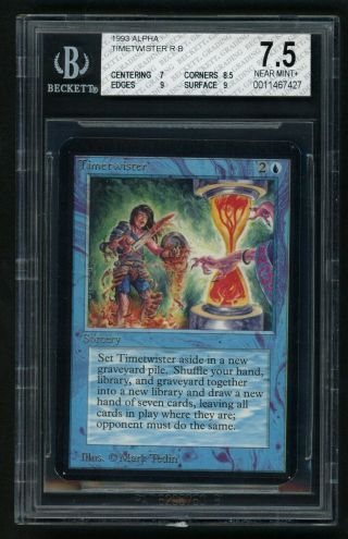 Bgs 7.  5 Alpha Timetwister Mtg Alpha Power 9 - Kid Icarus -