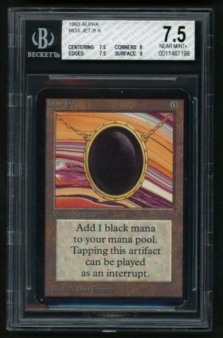 Bgs 7.  5 Alpha Mox Jet Mtg Alpha Power 9 - Kid Icarus -