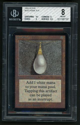 Bgs 8 Alpha Mox Pearl (quad, ) Mtg Alpha Power 9 - Kid Icarus -