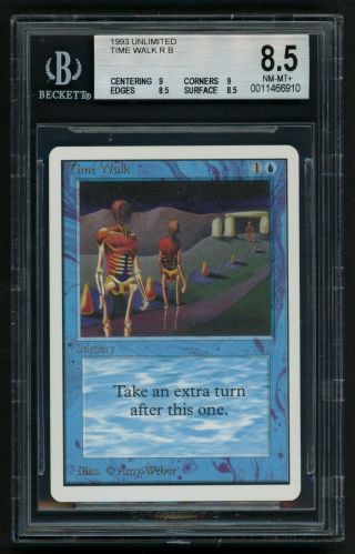 Bgs 8.  5 Unlimited Time Walk (quad, ) Mtg Unlimited Power 9 - Kid Icarus -