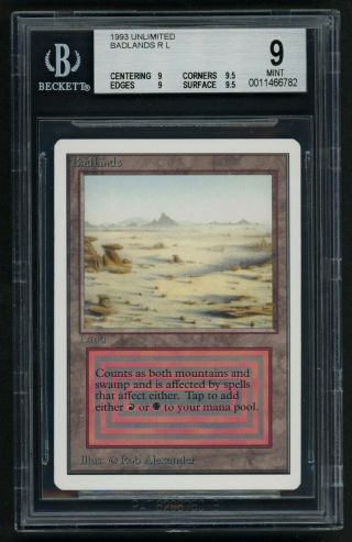 Bgs 9 Unlimited Badlands (quad, ) Mtg Unlimited - Kid Icarus -
