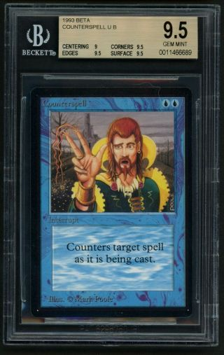 Bgs 9.  5 Beta Counterspell Mtg Beta - Kid Icarus -