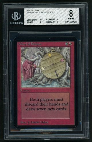 Bgs 8 Alpha Wheel Of Fortune Mtg Alpha - Kid Icarus -