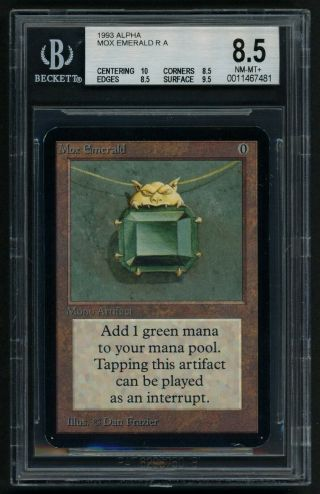 Bgs 8.  5 Alpha Mox Emerald (quad, ) Mtg Alpha Power 9 - Kid Icarus -