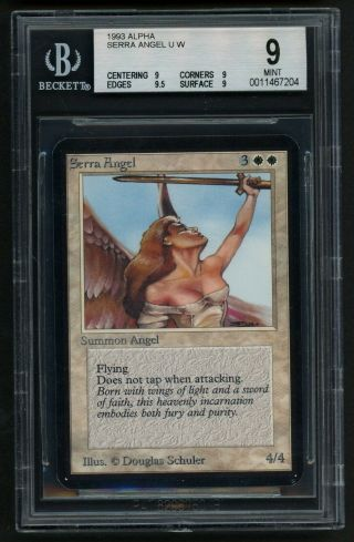 Bgs 9 Alpha Serra Angel (quad, ) Mtg Alpha - Kid Icarus -