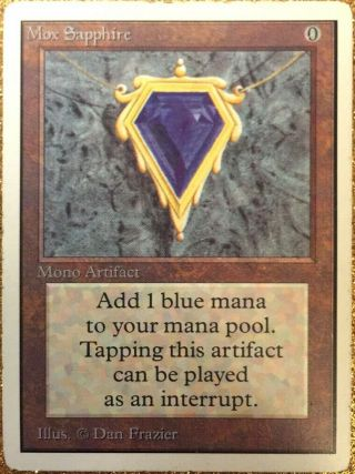 Mtg Unlimited Mox Sapphire Power 9 Magic The Gathering Played